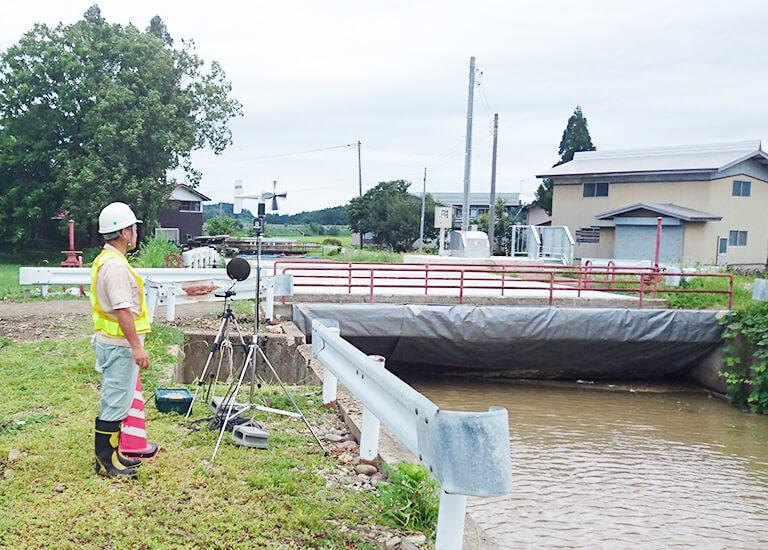 騒音調査(秋田県横手市地内)