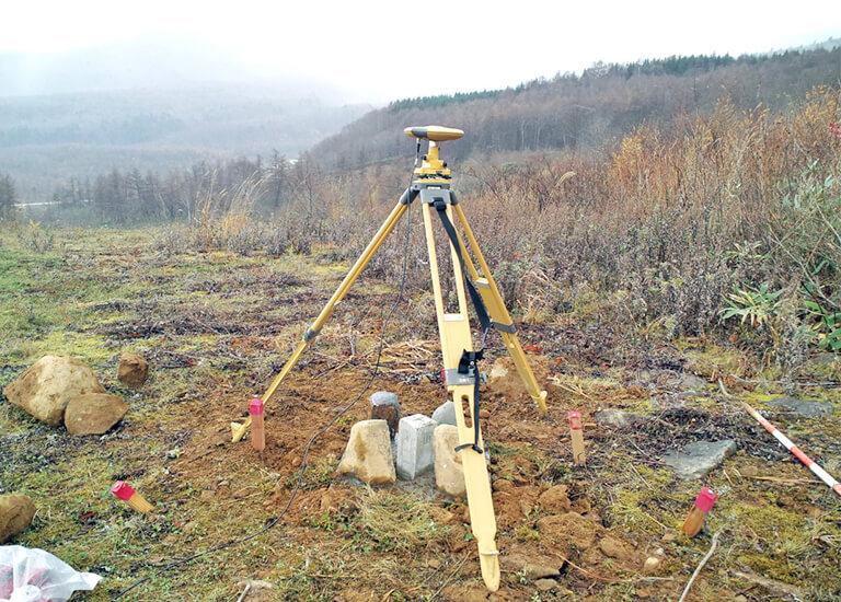 GPSによる1級基準点測量(山形県米沢市地内)